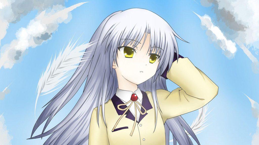Girl With White Hair Kanade Tachibana From Angel Beats Anime