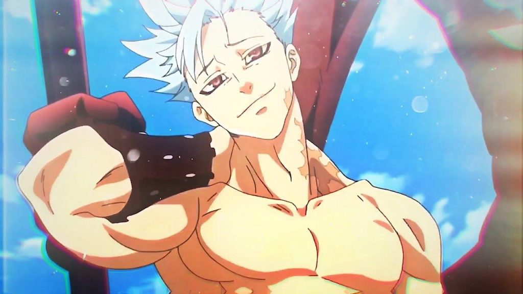 Ban an Anime male character with white hairs