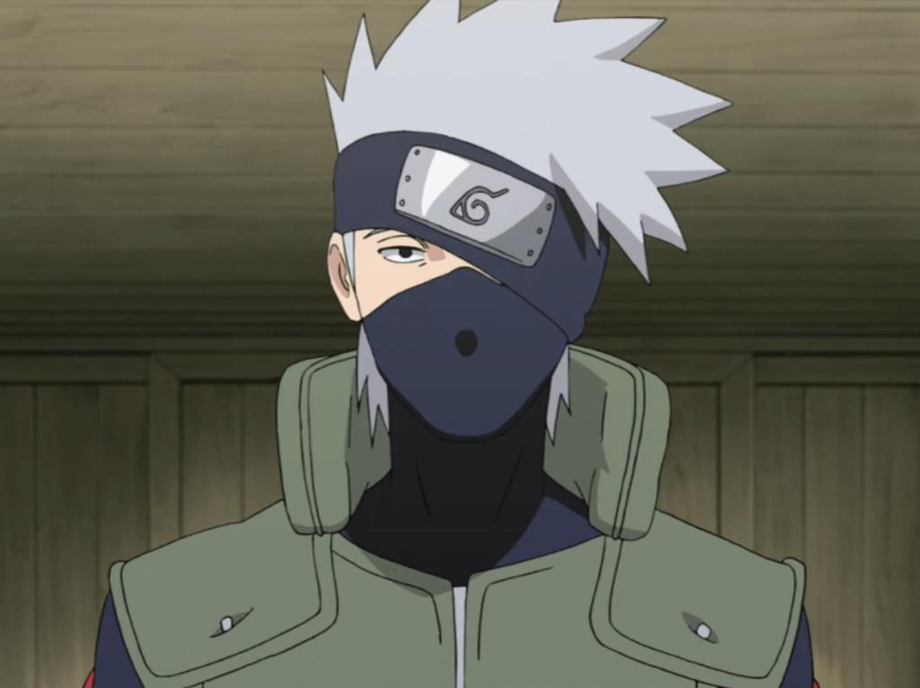 Shinobi Kakashi Hatake a white haired anime boy with mask