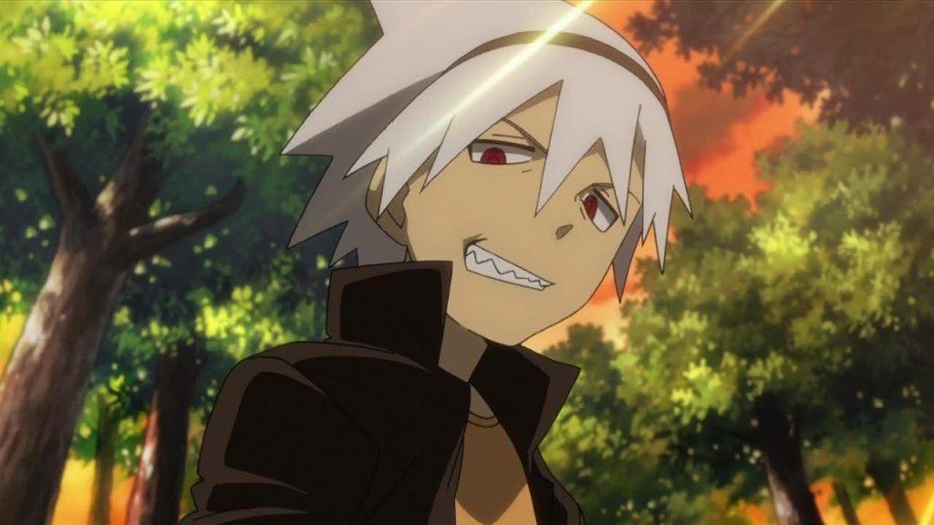 badass white haired anime male Soul Eater Evans