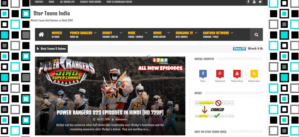 StarToonsIndia Hindi Cartoons and Anime Download